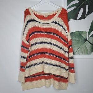 Altar'd State Colorblock Ugly Sweater Tunic Boho